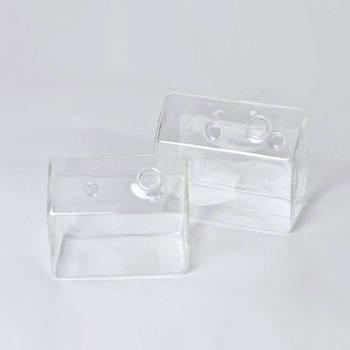 GLASS フラワーベース ハンギング ハウス ワイド(L)