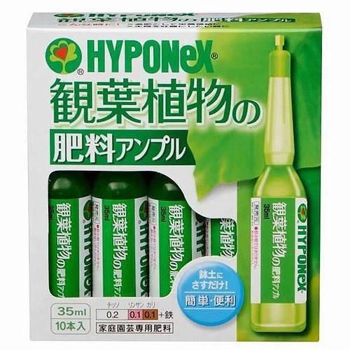 ハイポネックス 観葉植物の肥料アンプル 35ml×10本