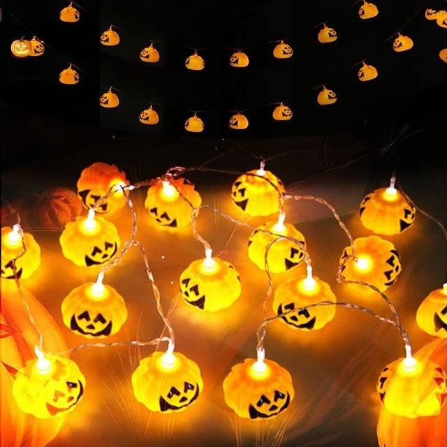 カボチャ ledライト ハロウィン イルミネーション 庭飾り クリスマスツリー飾り 2.5m 10球 電池式 メール便不可 :cambodia:Vivaストアー - 通販 - Yahoo!ショッピング (15423)