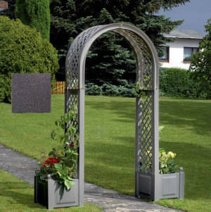 ドイツ製 ガーデン アーチ付 プランター ボックス (5780)