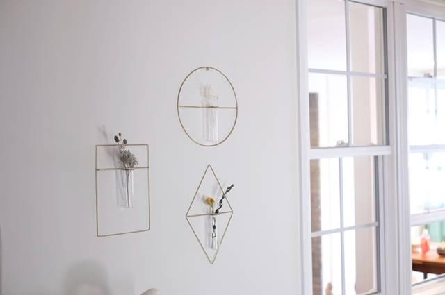 一輪挿し フラワーベース 真鍮 花 ガラス 壁面 インテリア